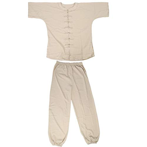 DAUERHAFT Tuta Taichi Uniformi Taichi, per Divise Taichi Sport Taglia XL, 2XL(Khaki, 2XL)