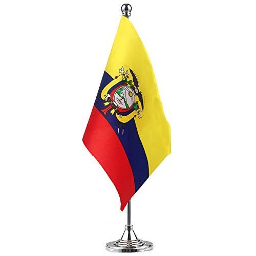 GentleGirl.USA Ecuador Flag Ecuadorian Flag Table Flag,Desk Flag,Office Flag,International World Country Flags Banners,Festival Events Celebration,Office Decoration,Desk,Home Decoration