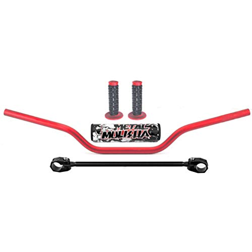 "7/8"" 22MM Handlebar Red Handle Bar with Foam Pad for CRF YZF KXF KLX RMZ DRZ KTM Pit Dirt Bike Motocross ATV Quad (Red)"