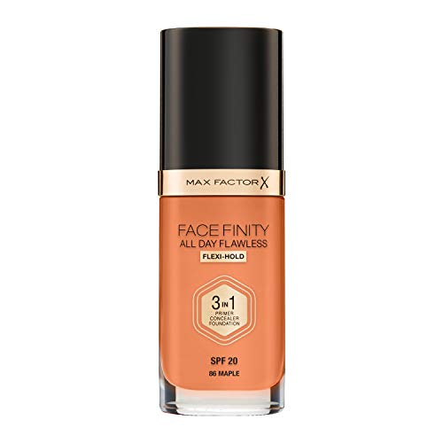 Max Factor Facefinity 3-in-1 All Day Flawless Foundation, SPF 20, Maple, 200 g