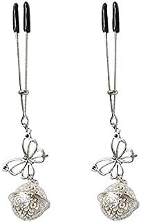 Borst tepel klemmen verstelbare bloem tepel clips met niet-piercing tepel ringen Borststimulatie speelgoed Sm Flirten (Siz...