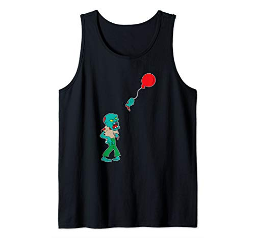 Zombie with balloon Zombie movie Horror movie Zombie fans Tank Top