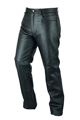 Texpeed - Herren Motorradhose im Stile einer Lederhose - schwarz - Größe W46 / 117cm