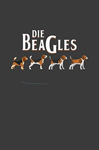 Die Beagles: Liniertes DinA 5 Notizbuch für Hunde-Fans Hundeliebhaber Herrchen und Frauchen Notizheft