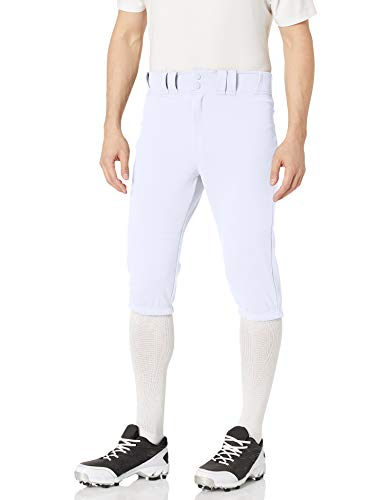 EASTON PRO+ KNICKER Baseball Pant, Adult, Medium, White