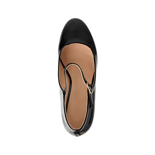 Damen Pumps | Bequeme High Heels Lack-Optik | Vintage-Style | Abendschuh - 6