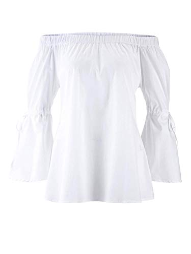 Heine Carmenbluse Offwhite Gr 34 bis 46 Bluse Shirt Tunika Carmen (42)