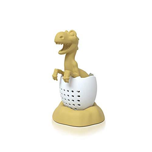 rethyrel Silikon-Tee-Ei-Dinosaurier-geformtes Teesieb-Loser Tee-Kräutersiebe ReusableTea-Beutel für losen Tee