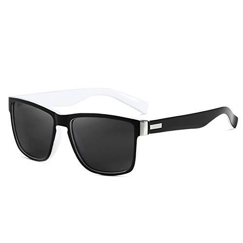 WWDKF Gafas De Sol Hombre, Gafas De Sol Polarizadas Deportivas Cuadradas para Hombres Al Aire Libre, Adecuadas para Conducir, IR De Compras, Citas, Fiestas Y Otras Ocasiones,E