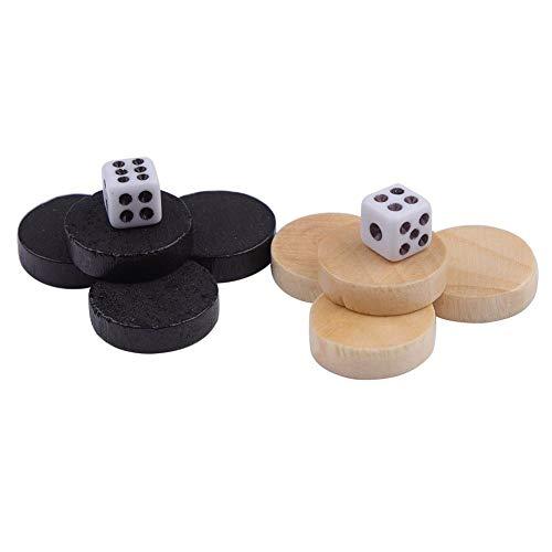 Schachfigur - 32tlg. Holz Backgammon/Drafts/Dame Schachfigurenset