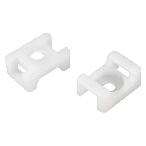 sourcingmap Basetta per fascetta tipo sella Porta filo Nylon 9,2 mm larghezza del foro bianco 50Pz HC-2