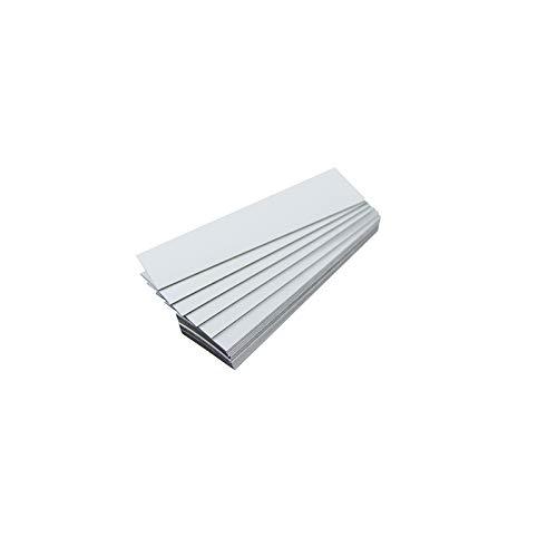 Lote de 25 etiquetas magnéticas de color (blanco, longitud 10 cm – ancho 2 cm)