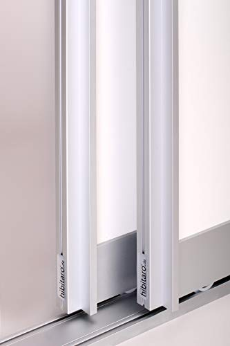 Schiebetürbausatz BS-Komfort mit Aluminium Rahmen Typ B - Bodengeführt - wahlweise 2000 oder 3000 mm Schienenbreite für zwei oder drei Türflügel á max. 1000 x 2750 mm (3 Meter Schiene / 3 Türflügel)