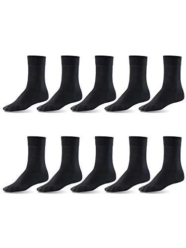 Mat and Vic's Cotton Classic Socken, 10 Paar, größe 47-50, Schwarz
