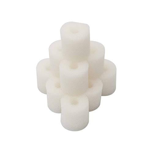 XIAOFANG Filtro de Espuma Compatible con 6 o 12 unids FIT para EHEIM 2618080 Aquaball 2208/2210/2212 60/130/180 FIT para BIOPOWER 160/200/240 Filtro de Acuario (Color : White, Size : Pack of 5