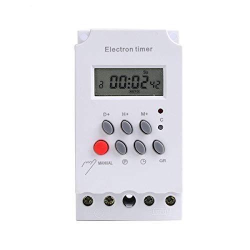 liuchenmaoyi Módulo de Sensor LCD Digital programable semanal Temporizador de relé eléctrico Interruptor KG316T-II AC 220V 25A Módulo electrónico