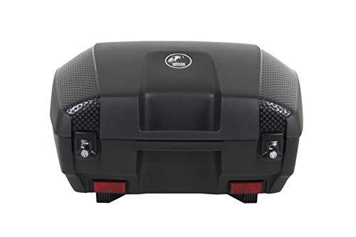 H&B Motorradtopcase Topcase Junior 55 (55 Liter) schwarz unlackiert, Unisex, Multipurpose, Sommer, Kunststoff