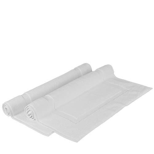 Chakir Turkish Linens Turkish Cotton Luxury Hotel & Spa Bath Towel, Bath Mat - Set of 2, White