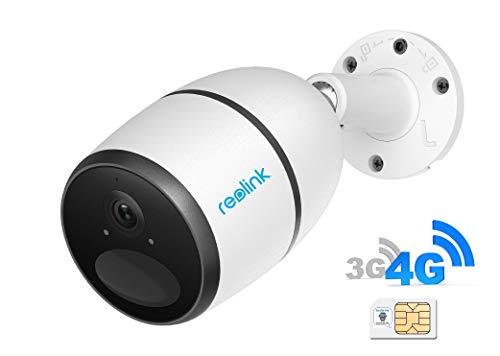 tualarmasincuotas.es Camara IP 3G/4G -con Tarjeta SIM de móvil YA incluida- de videovigilancia 100% inalámbrica (con batería Recargable) FullHD 1080p, visión Nocturna y detección de Movimiento PIR