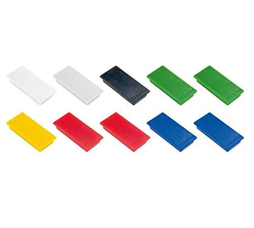 Franken HM2350 99 Magnet (Haftkraft 1000 g) 23 x 50 mm, 10 Stück, farblich sortiert
