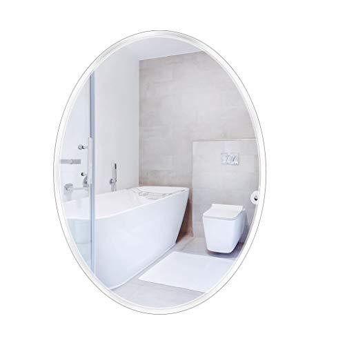 JYXJJKK Espejo Espejo de Pared sin Marco Ovalado Espejo de baño Habitación Sala de Bisel Pulido Espejo (50x70cm / 19.7' x 27.6')