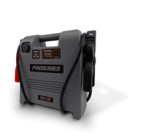 Schumacher DSR ProSeries DSR119 1800 Amp 12V Rechargeable AGM Pro Jump Starter Starts 8.0L - Gas 6.0L - Diesel vehicles 12V DC Power for Charging Phones/Tablets