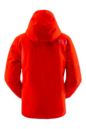 Spyder Herren Tripoint Gore-Tex Skijacke - Male Full Zip Hooded Wintermantel, Herren, Tripoint Gore-tex Ski Jacket, Vulkan, Small