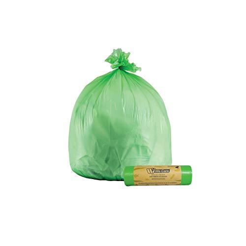 We Care - Bolsas de Basura Biodegradable y Compostable. 0% Plastico y Amigable con el medio ambiente. (43x45)