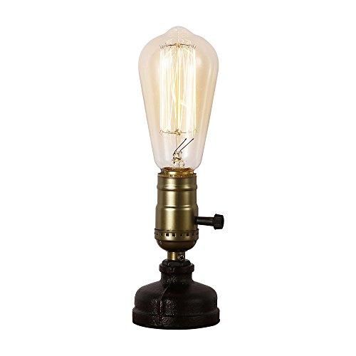 Injuicy Loft Vintage Industriellen Steampunk Metall Schreibtischlampen Antiken E27 Edison Eisen Basis Schreibtisch Licht Tisch Glühbirnen für Wohnzimmer Schlafzimmer
