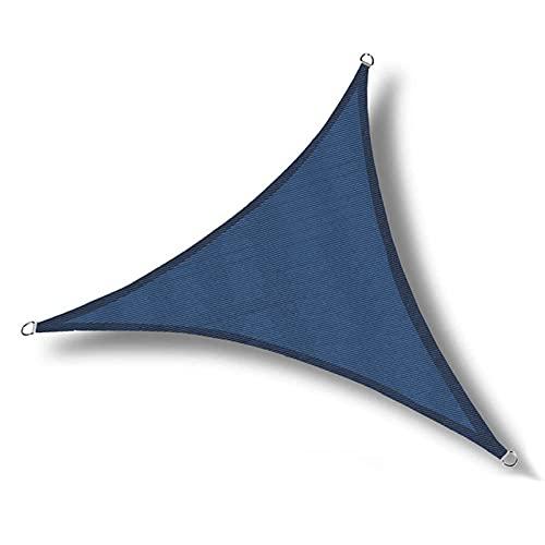MKWEY Sails para patios impermeables de 7 x 7 x 7 pulgadas, toldo triangular, toldo para patio paraíso, bloqueo al aire libre, para patio, jardín, piscina