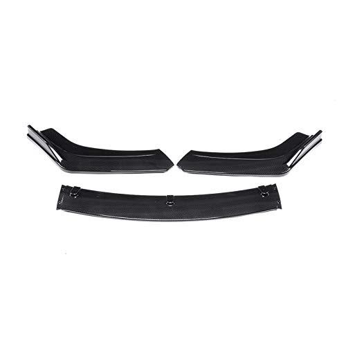 GaCunYan 3-Piece Carbon Faser Look/Black Car Front Singer Bumper Lip Diffuser Spoiler Body Kit für Ho/Nda Civic Sedan 4DR 2016 2017 2018 GaCunYan (Color : C)