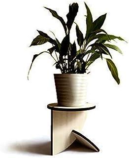 Moderno piedistallo tondo basso espositivo per piante di design in molti colori Supporto legno espositore vaso da fiori in...