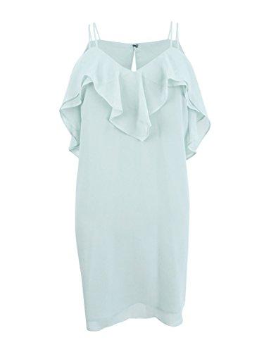 BCBGeneration Women's Ruffled Mini Dress, Frost Blue, XS