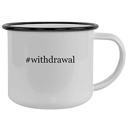 #withdrawal - 12oz Hashtag Camping Mug Stainless Steel, Black
