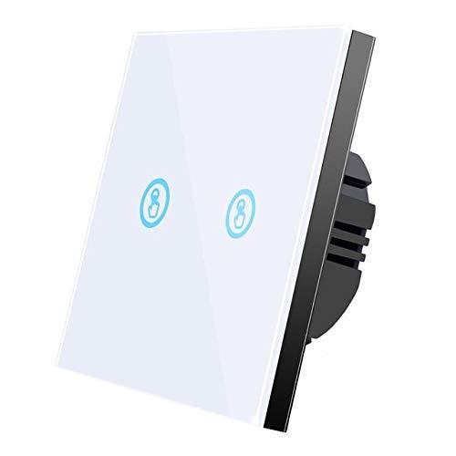 YALIXING JJBHD Electronic Accessoires & Supplies Weiß 2 Gang Touch Wandschalter EIN/Aus Licht LED-Lampe Kristallglas-Bildschirmtafel Um Ihnen die Qualität der Exzellenz bereitzustelle