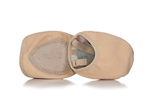Lyrical Flow Canvas Closed-Toe Lyrical Shoes T8975, Tan, X-Large