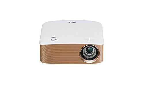 LG PH150G - Proyector Minibeam Portátil con batería incorporada (HD 1280x720, LED, contraste 100,000:1, 130 lúmenes) - Blanco [VERSION UK]