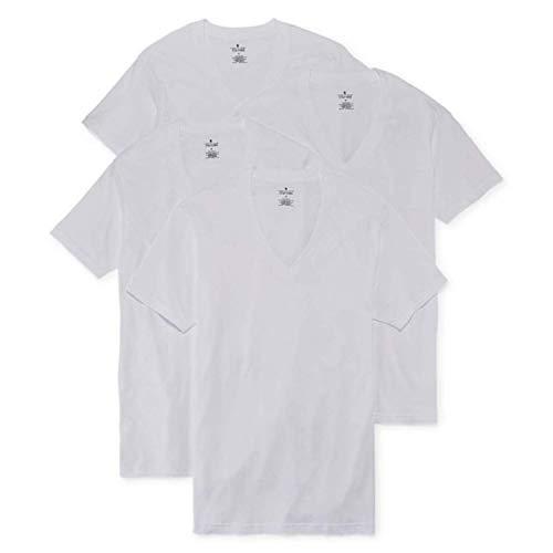 Stafford 4-pk. Heavyweight V-Neck T-Shirts (L) White