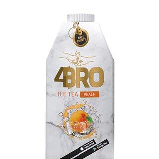 4Bro Ice Tea - Peach - 8 x 500ml