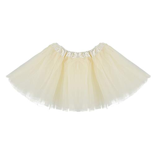 Baby Tutu Skirt, Infant Tutus, 5 Layers Tulle Dress Up for Baby Girls & Toddlers Beige