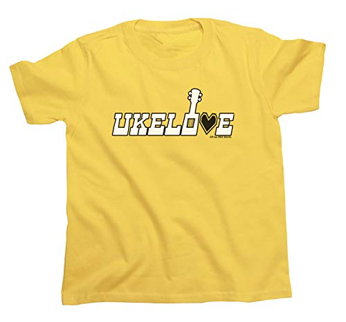 Free Will Shirts Ukelove Ukulele - Kids Boys Girls Unisex Music Organic Cotton T-Shirt