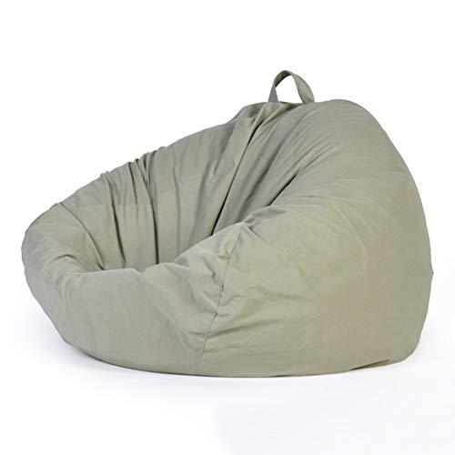 LDIW Sitzsackhülle(ohne Füllung), Imitieren Sie Wildledersamt Stoff Sitzsack Bezug, für Erwachsene und Kinder,Light Green,110x120cm