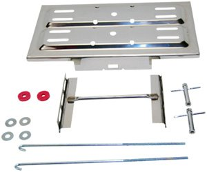 Battery Tray Kit, Universal with 'J' Hooks (Polished Stainless Steel)