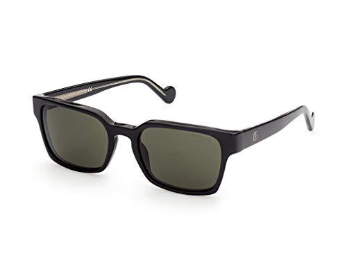 Moncler sonnenbrille ML0143 03N Schwarz grün größe 56 mm Mann