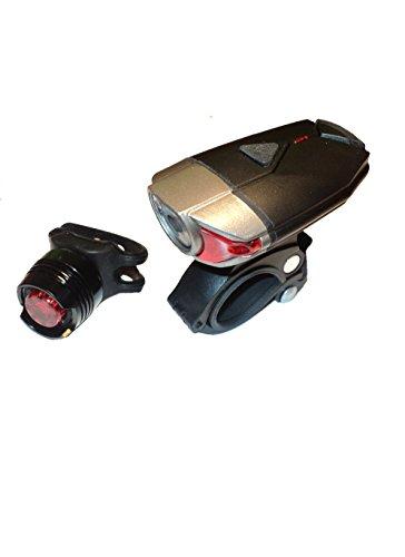 Blazing Lifestyle - Juego de Luces para Bicicleta (Recargables, USB, luz Delantera y Trasera, Resistente al Agua)