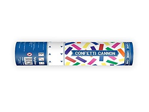 Party Deco 1 Mini Canon à Confetti Multicolore 20cm