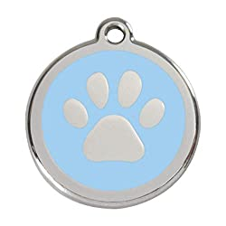 Personalised Engraved Pet ID Tag It is Law that your Dog must wear an ID Tag when out in public. Stainless Steel with Enamel Design Available in 3 Sizes Easy to order, choose colour and size and email details for engraving