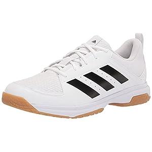 adidas Women's Ligra 7 Track and Field Shoe, White/Black/White, 11.5