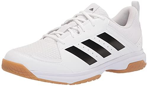 adidas Women's Ligra 7 Track and Field Shoe, White/Black/White, 5