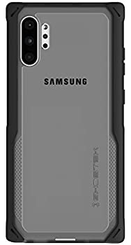 Ghostek Cloak Clear Grip Galaxy Note 10 Plus Case with Super Shock Absorbing Bumper Slim Fit Heavy Duty Protection and Wireless Charging Compatible for 2019 Galaxy Note10+ 5G  6.8 Inch  -  Black